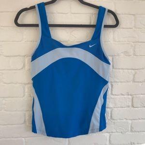 Nike two tone blue athletic tank top Medium